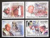 Poštovní známky Burundi 2011 Papež Jan Pavel II. Mi# 2146-49 Kat 9.50€