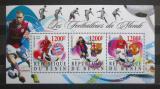 Poštovní známky Benin 2015 Fotbalisti Mi# N/N