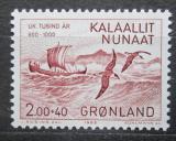Poštovní známka Grónsko 1982 Plachetnice Erika Rudého Mi# 137