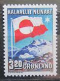 Poštovní známka Grónsko 1989 Státní vlajka Mi# 195