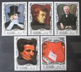 Poštovní známky Rás al-Chajma 1968 Umění, skladatelé Mi# 276-80 Kat 6€