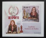 Poštovní známka Mosambik 2010 Slavné šachistky neperf. Mi# 3691 B Block