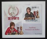 Poštovní známka Mosambik 2010 Slavné šachistky neperf. Mi# 3692 B Block