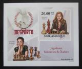Poštovní známka Mosambik 2010 Slavné šachistky neperf. Mi# 3695 B Block