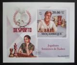 Poštovní známka Mosambik 2010 Slavné šachistky neperf. Mi# 3696 B Block