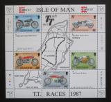 Poštovní známky Ostrov Man, Velká Británie 1987 Motocyklové závody Mi# Block 9