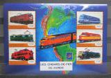Poštovní známky Guinea 2001 Lokomotivy z celého světa Mi# 3133-38 Kat 23€