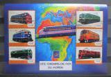 Poštovní známky Guinea 2001 Lokomotivy z celého světa Mi# 3139-44 Kat 23€