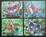 Poštovní známky Aitutaki 2008 Motýli, WWF Mi# 778-81 Kat 9.50€