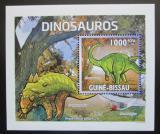 Poštovní známka Guinea-Bissau 2011 Dinosauři DELUXE Mi# 5334 Block