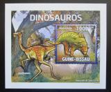 Poštovní známka Guinea-Bissau 2011 Dinosauři DELUXE Mi# 5335 Block