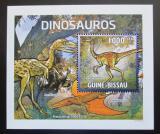 Poštovní známka Guinea-Bissau 2011 Dinosauři DELUXE Mi# 5336 Block