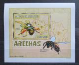 Poštovní známka Mosambik 2007 Včely a vosy DELUXE Mi# 2936 Block