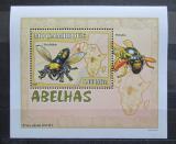 Poštovní známka Mosambik 2007 Včely a vosy DELUXE Mi# 2941 Block