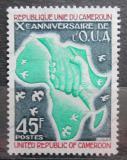 Poštovní známka Kamerun 1974 Mapa Afriky Mi# 761