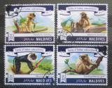Poštovní známky Maledivy 2015 Vzácné opice Mi# 5634-37 Kat 11€