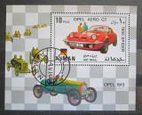 Poštovní známka Adžmán 1971 Závodní automobily Opel Mi# Block 320