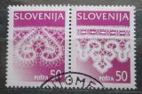 Poštovní známky Slovinsko 1996 Krajky Mi# 163-64