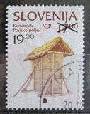 Poštovní známka Slovinsko 2000 Kukuřičné silo přetisk Mi# 305