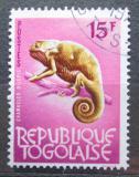 Poštovní známka Togo 1965 Chameleon límcový Mi# 394