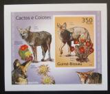 Poštovní známka Guinea-Bissau 2010 Kaktusy a kojoti DELUXE Mi# 5010 B Block