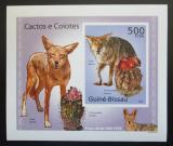 Poštovní známka Guinea-Bissau 2010 Kaktusy a kojoti DELUXE Mi# 5011 B Block