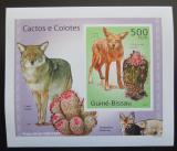 Poštovní známka Guinea-Bissau 2010 Kaktusy a kojoti DELUXE Mi# 5012 B Block