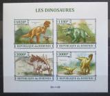 Poštovní známky Burundi 2013 Dinosauři, neperf. Mi# 3238-41 B