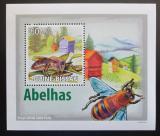 Poštovní známka Guinea-Bissau 2009 Včely DELUXE Mi# 4131 Block