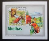 Poštovní známka Guinea-Bissau 2009 Včely DELUXE Mi# 4132 Block
