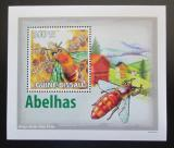 Poštovní známka Guinea-Bissau 2009 Včely DELUXE Mi# 4133 Block