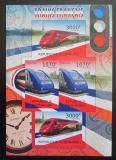 Poštovní známky Burundi 2012 Francouzské lokomotivy neperf. Mi# 2442,2443 B