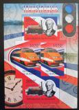 Poštovní známky Burundi 2012 Francouzské lokomotivy neperf. Mi# 2441,2444 B