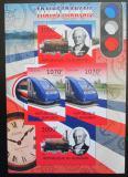 Poštovní známky Burundi 2012 Francouzské lokomotivy neperf. Mi# 2442,2444 B