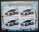 Poštovní známky Burundi 2012 Opel, 150. výročí neperf. Mi# Block 215 B