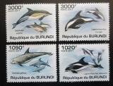 Poštovní známky Burundi 2011 Delfíni Mi# 2054-57 Kat 9.50€