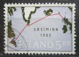 Poštovní známka Island 1962 Podmořský kabel Mi# 366