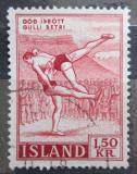 Poštovní známka Island 1957 Zápas Mi# 314