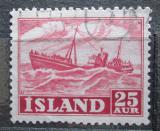Poštovní známka Island 1954 Rybářská loď Mi# 297
