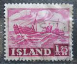 Poštovní známka Island 1952 Rybářská loď Mi# 276