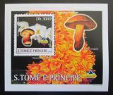 Poštovní známka Svatý Tomáš 2003 Houby a orchideje DELUXE Mi# 1997 Block