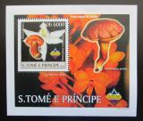 Poštovní známka Svatý Tomáš 2003 Houby a orchideje DELUXE Mi# 1999 Block