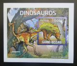 Poštovní známka Guinea-Bissau 2011 Dinosauři DELUXE neperf. Mi# 5335 B Block
