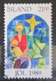 Poštovní známka Island 1989 Vánoce Mi# 712