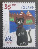 Poštovní známka Island 1998 Vánoce, dětská kresba Mi# 900