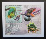 Poštovní známka Svatý Tomáš 2006 Dinosauři a minerály DELUXE Mi# 2770 Block