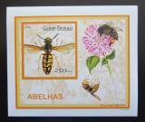 Poštovní známka Guinea-Bissau 2001 Včely a vosy DELUXE Mi# 1512 Block