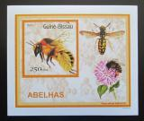 Poštovní známka Guinea-Bissau 2001 Včely a vosy DELUXE Mi# 1513 Block