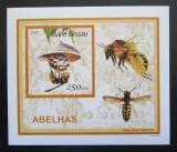 Poštovní známka Guinea-Bissau 2001 Včely a vosy DELUXE Mi# 1514 Block