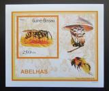 Poštovní známka Guinea-Bissau 2001 Včely a vosy DELUXE Mi# 1515 Block